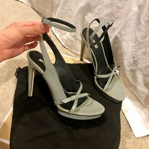 exclusive CalvinKlein Collection ankle strap heels